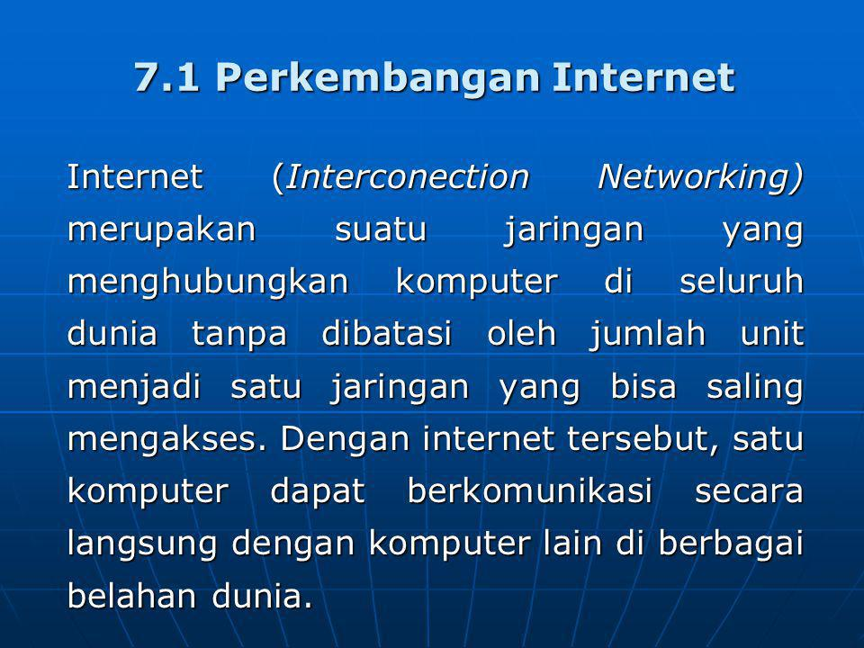 7.1 Perkembangan Internet