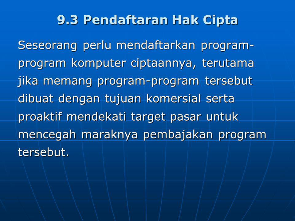 9.3 Pendaftaran Hak Cipta