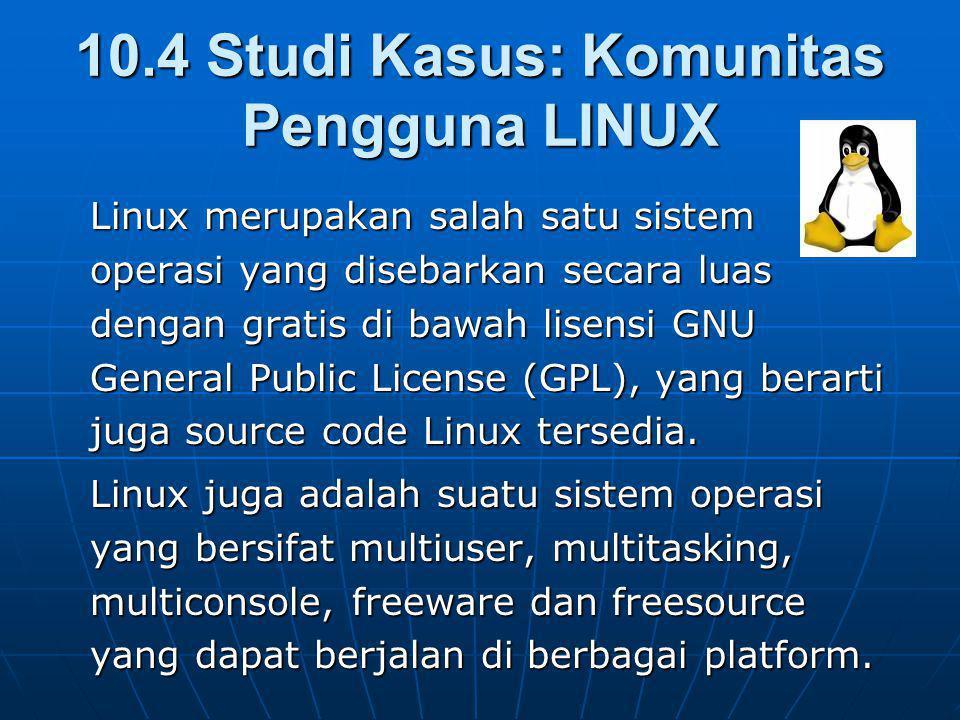 10.4 Studi Kasus: Komunitas Pengguna LINUX