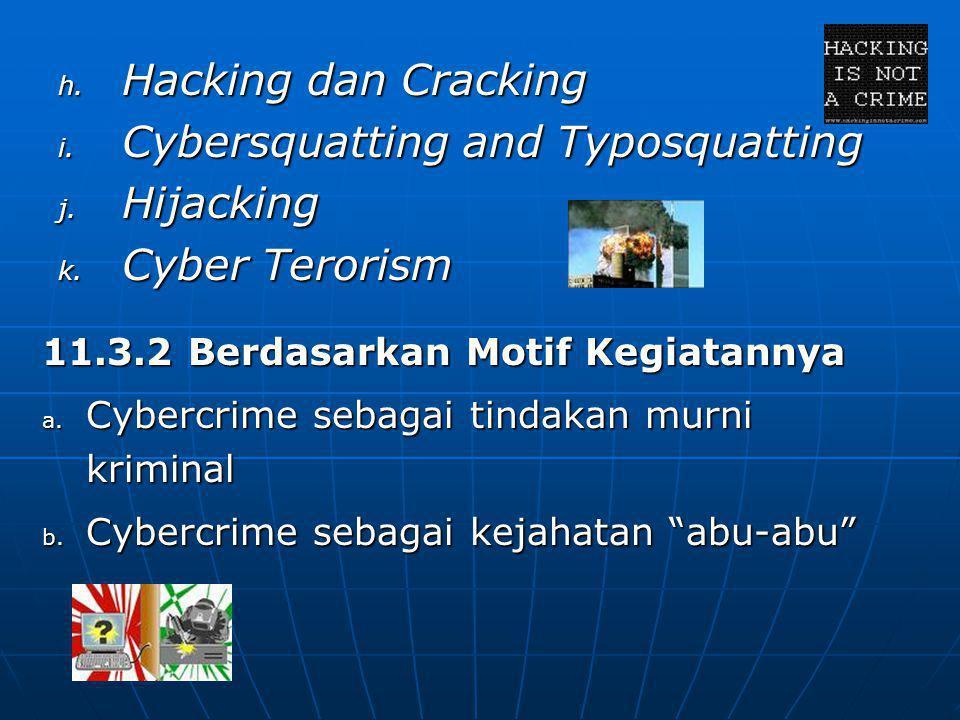 Cybersquatting and Typosquatting Hijacking Cyber Terorism