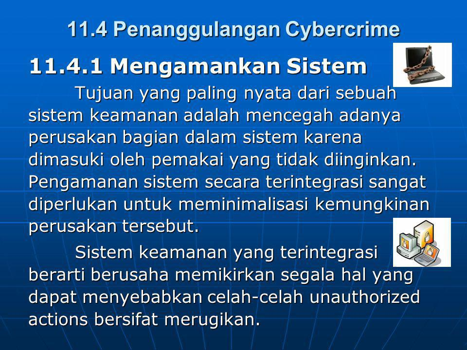 11.4 Penanggulangan Cybercrime