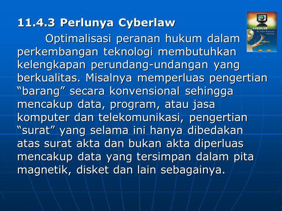 11.4.3 Perlunya Cyberlaw