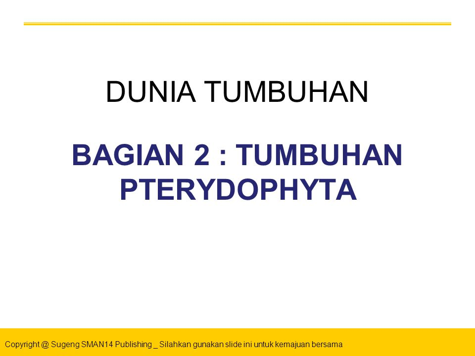 BAGIAN 2 : TUMBUHAN PTERYDOPHYTA