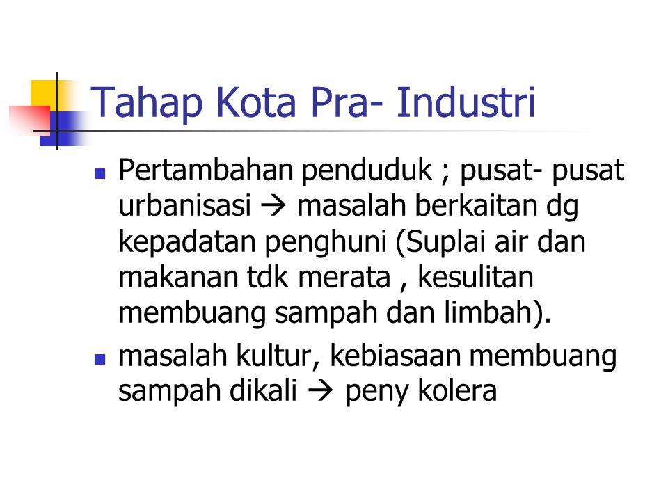 Tahap Kota Pra- Industri