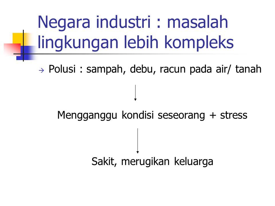 Negara industri : masalah lingkungan lebih kompleks