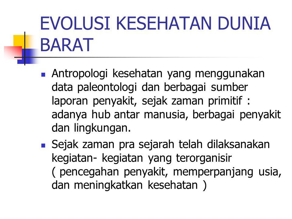 EVOLUSI KESEHATAN DUNIA BARAT