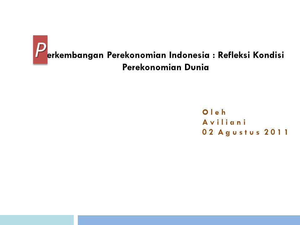 erkembangan Perekonomian Indonesia : Refleksi Kondisi Perekonomian Dunia