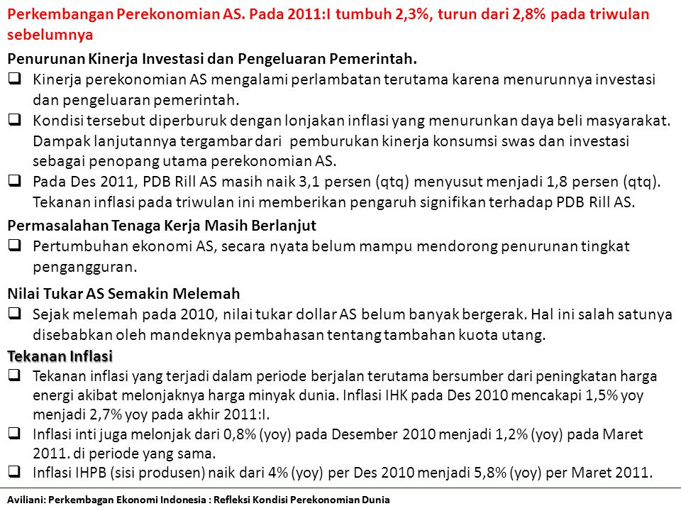 Penurunan Kinerja Investasi dan Pengeluaran Pemerintah.