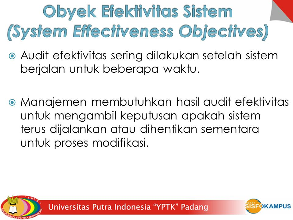 Obyek Efektivitas Sistem (System Effectiveness Objectives)