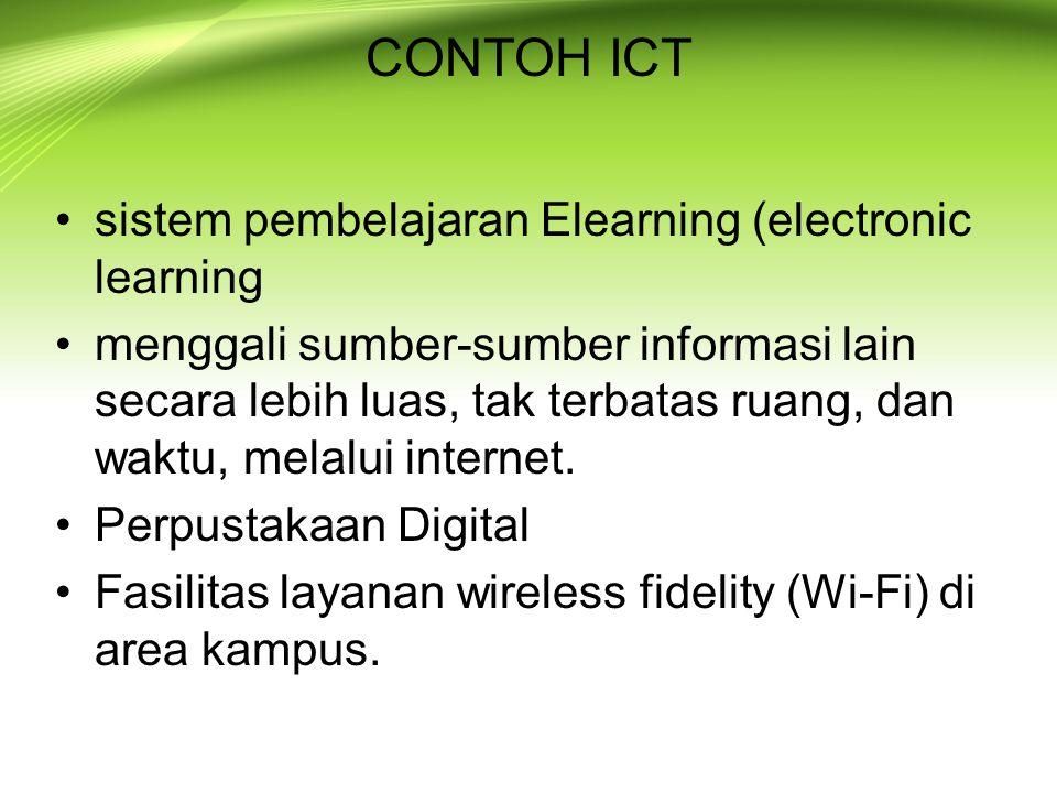 CONTOH ICT sistem pembelajaran Elearning (electronic learning