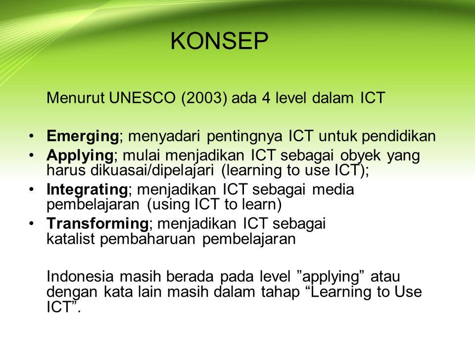 KONSEP Emerging; menyadari pentingnya ICT untuk pendidikan
