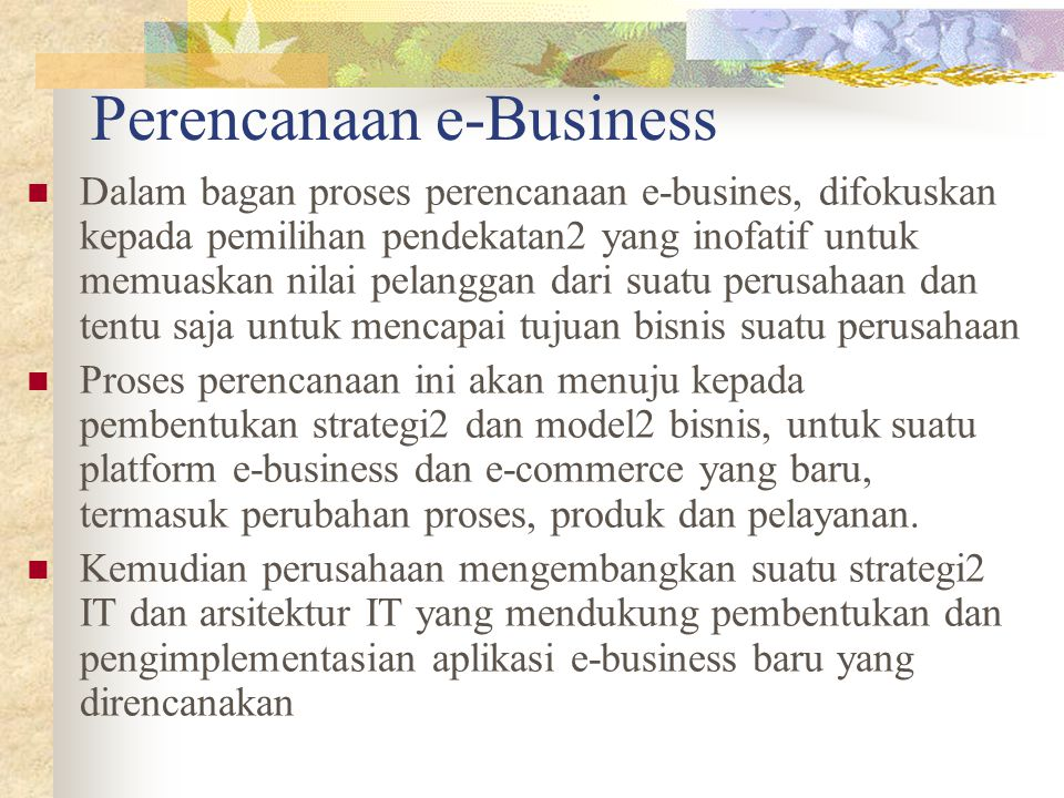 Perencanaan e-Business