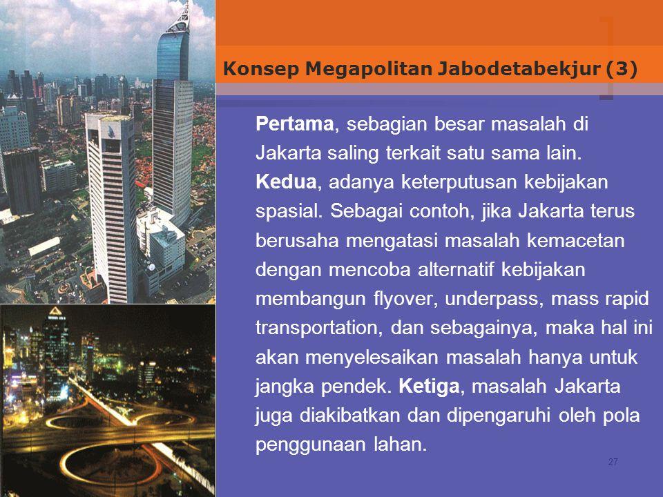 Konsep Megapolitan Jabodetabekjur (3)