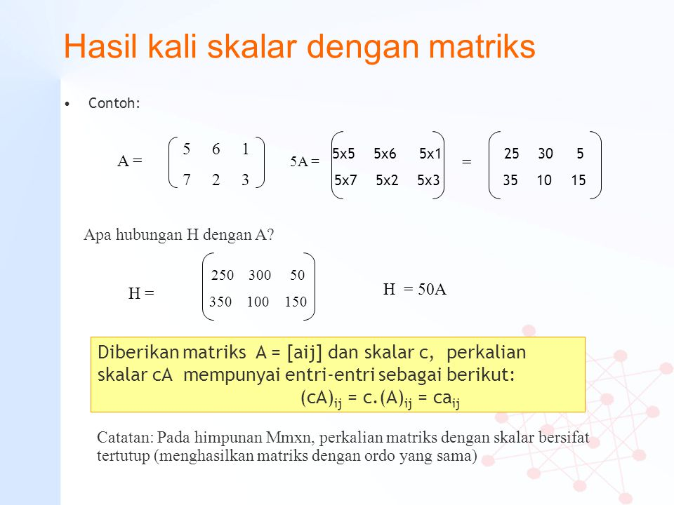 Hasil kali skalar dengan matriks