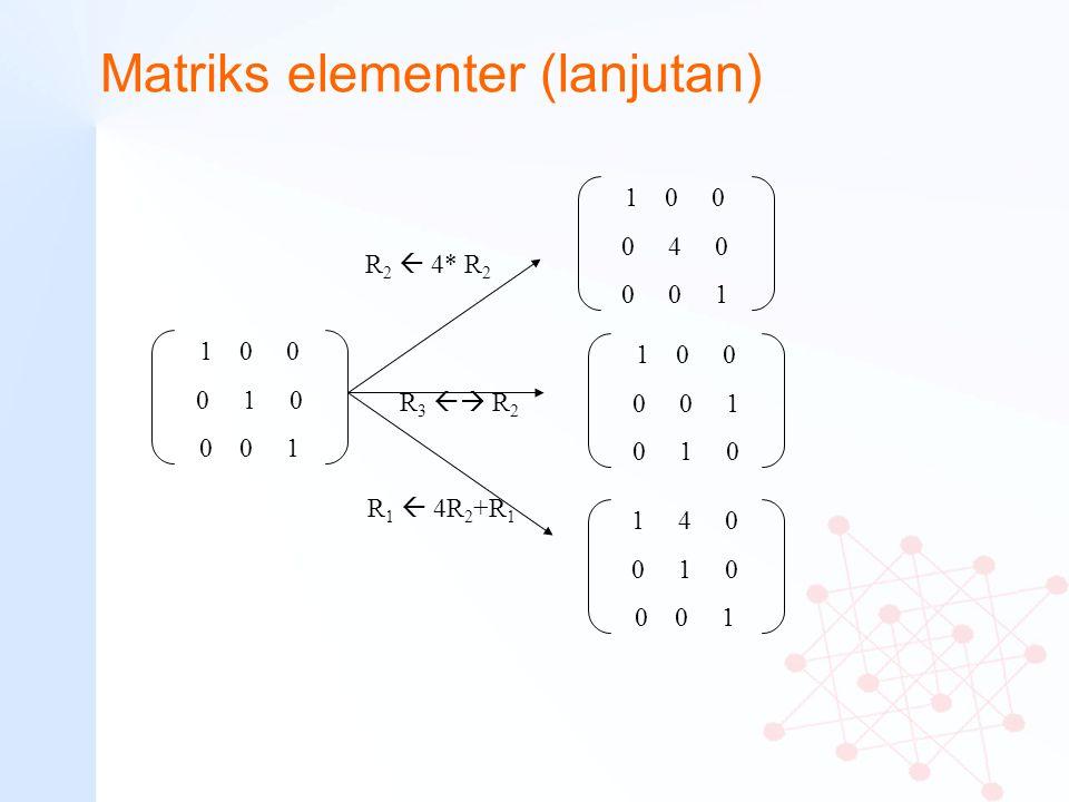 Matriks elementer (lanjutan)