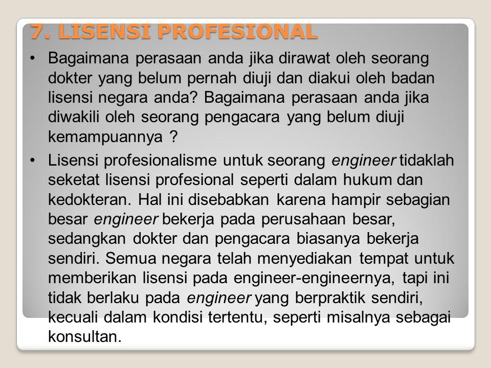 7. LISENSI PROFESIONAL