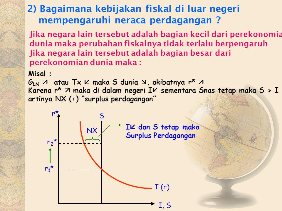 2) Bagaimana kebijakan fiskal di luar negeri mempengaruhi neraca perdagangan