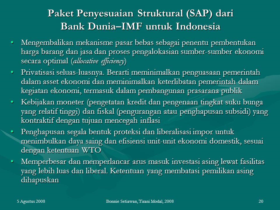 Paket Penyesuaian Struktural (SAP) dari Bank Dunia–IMF untuk Indonesia