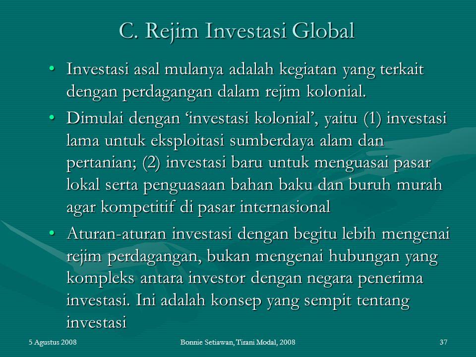 C. Rejim Investasi Global