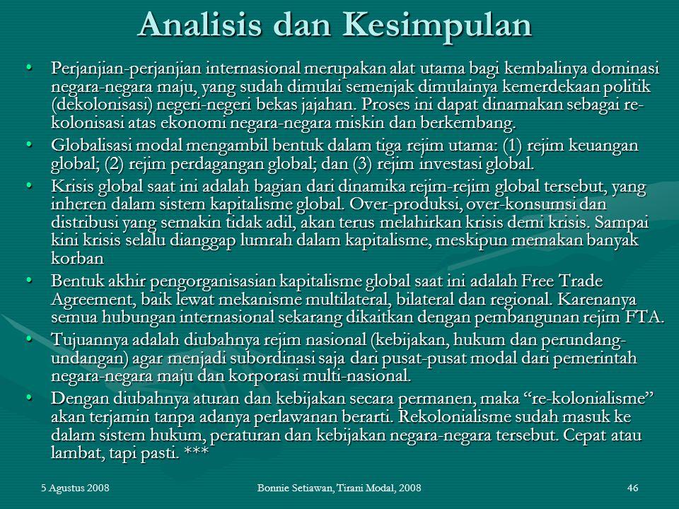 Analisis dan Kesimpulan
