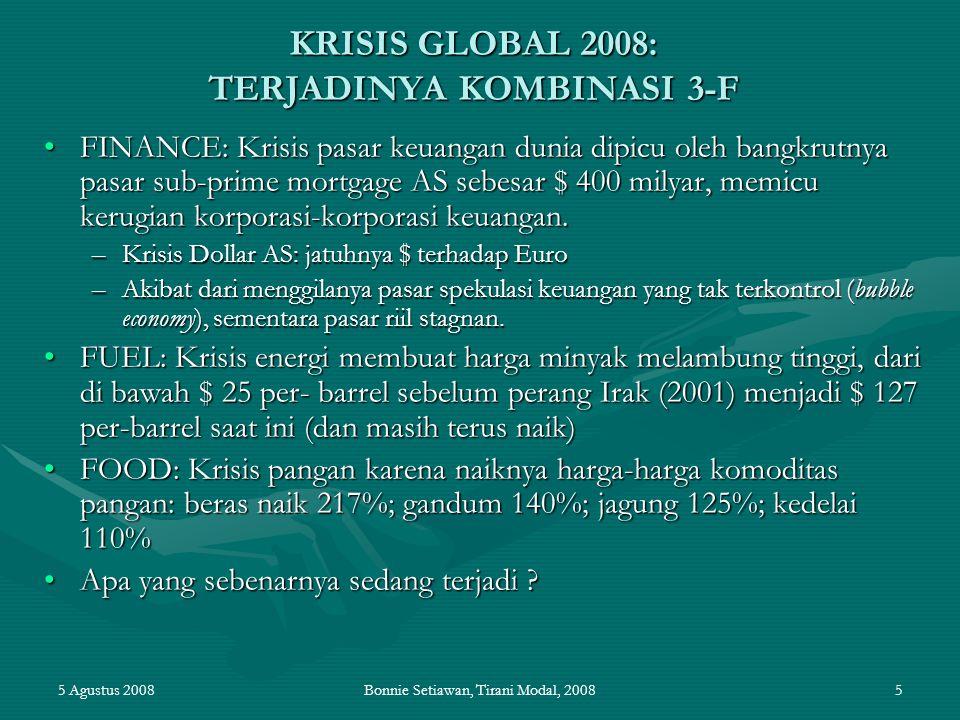 KRISIS GLOBAL 2008: TERJADINYA KOMBINASI 3-F