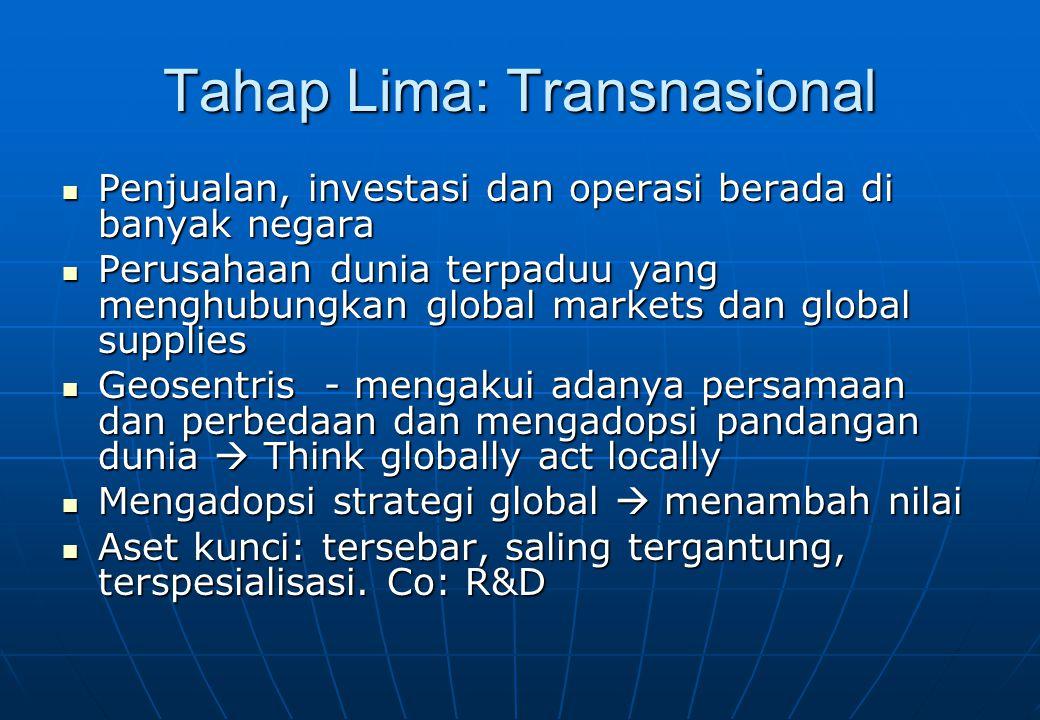 Tahap Lima: Transnasional