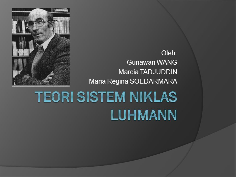 Teori Sistem Niklas Luhmann