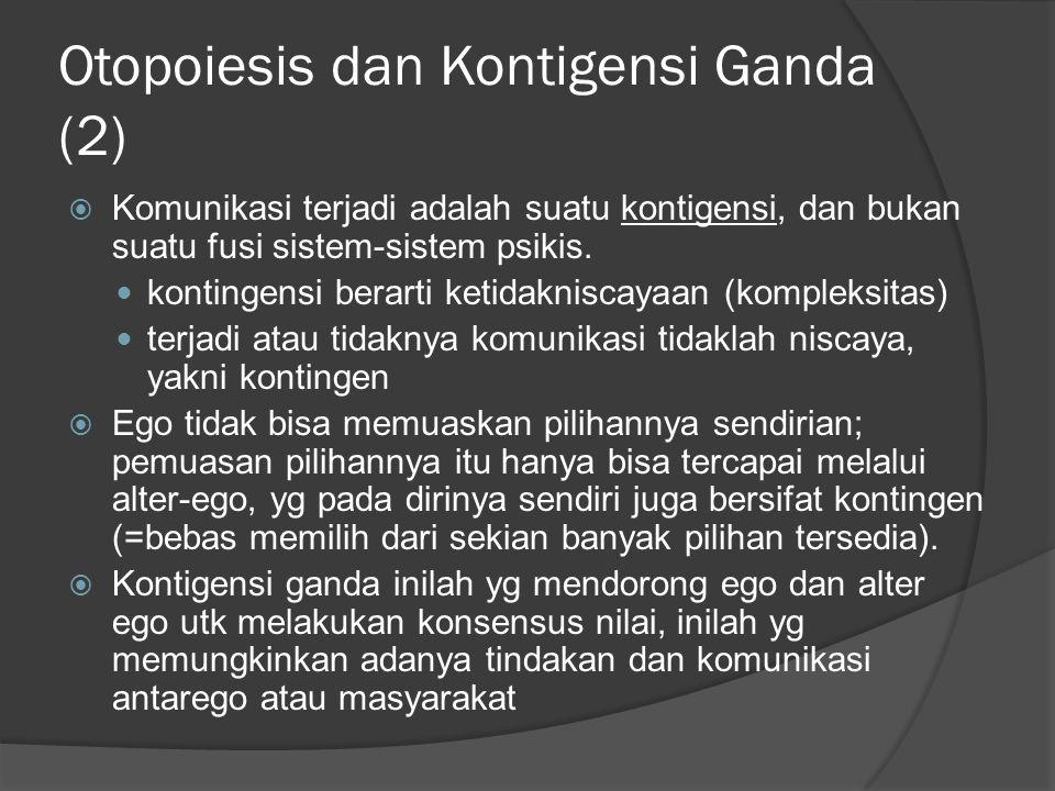 Otopoiesis dan Kontigensi Ganda (2)