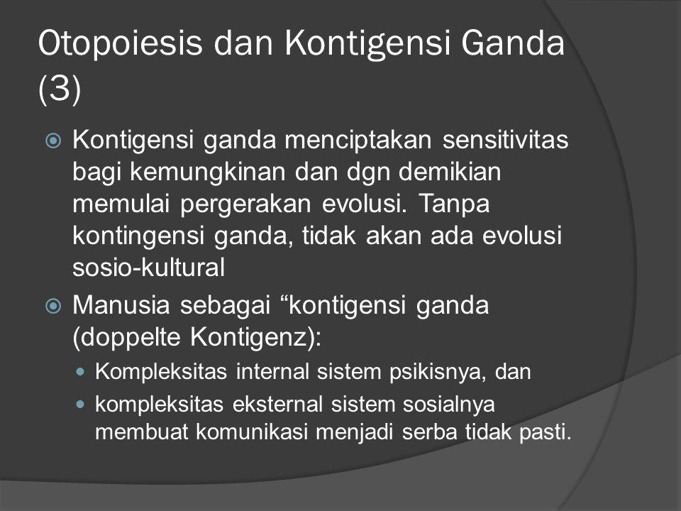 Otopoiesis dan Kontigensi Ganda (3)