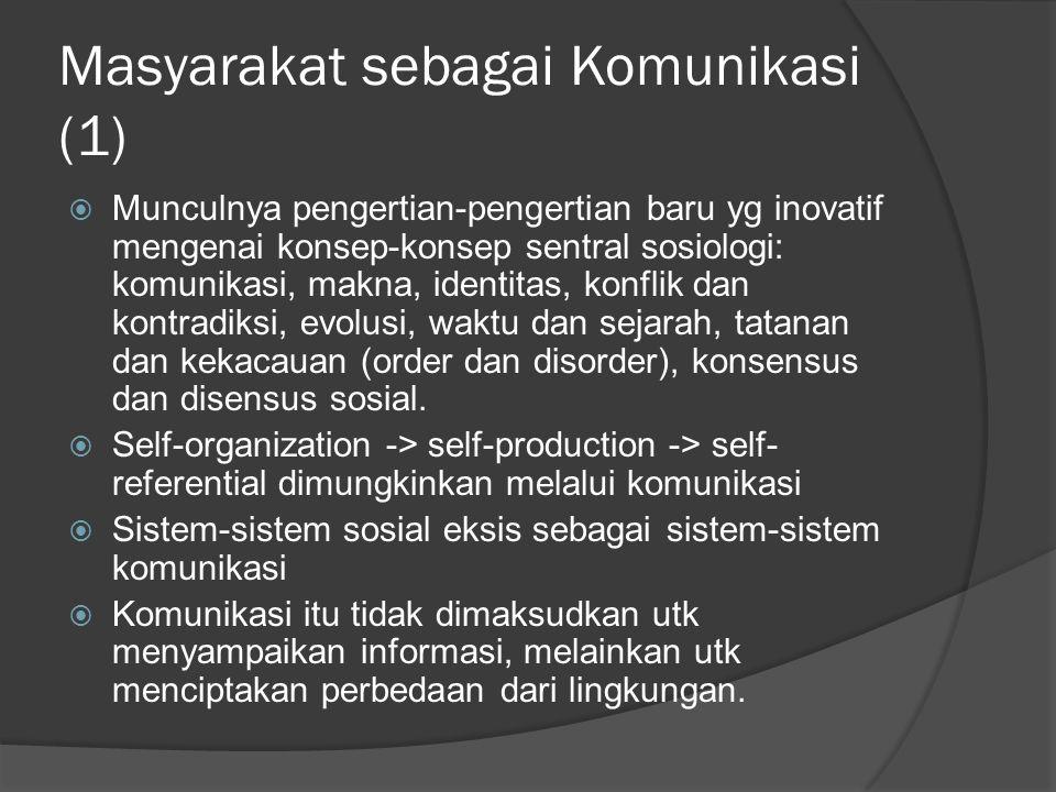 Masyarakat sebagai Komunikasi (1)