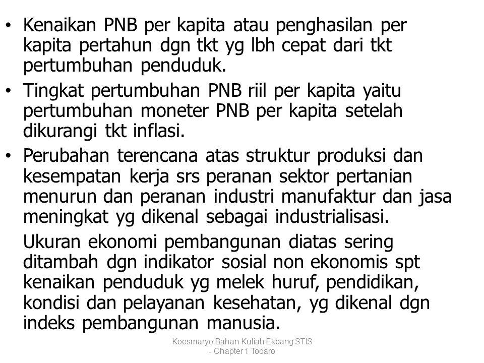 Koesmaryo Bahan Kuliah Ekbang STIS - Chapter 1 Todaro