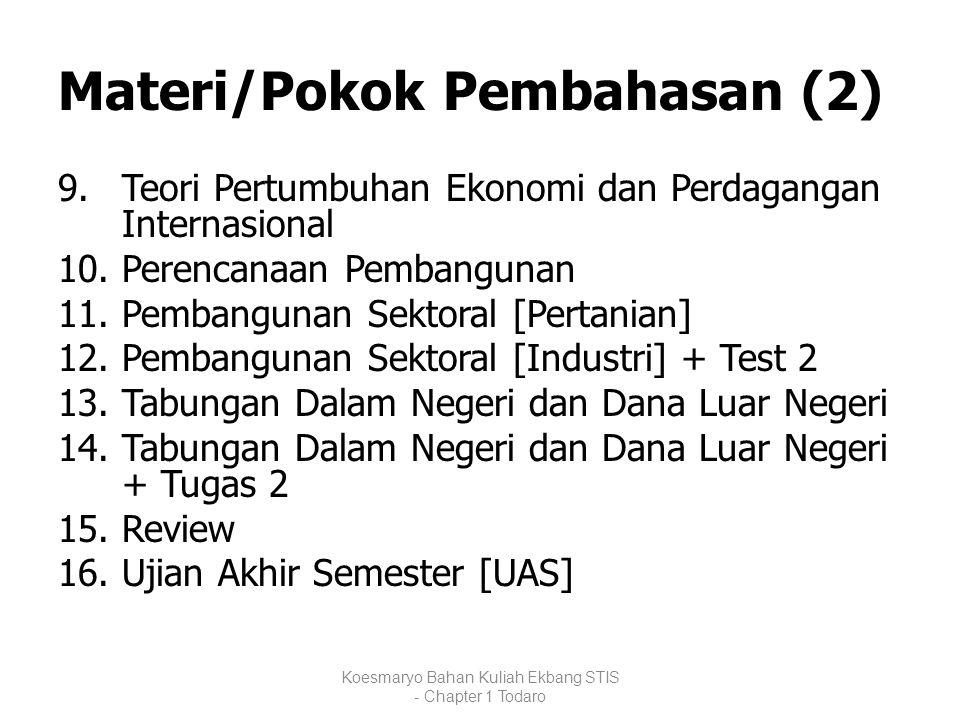 Materi/Pokok Pembahasan (2)