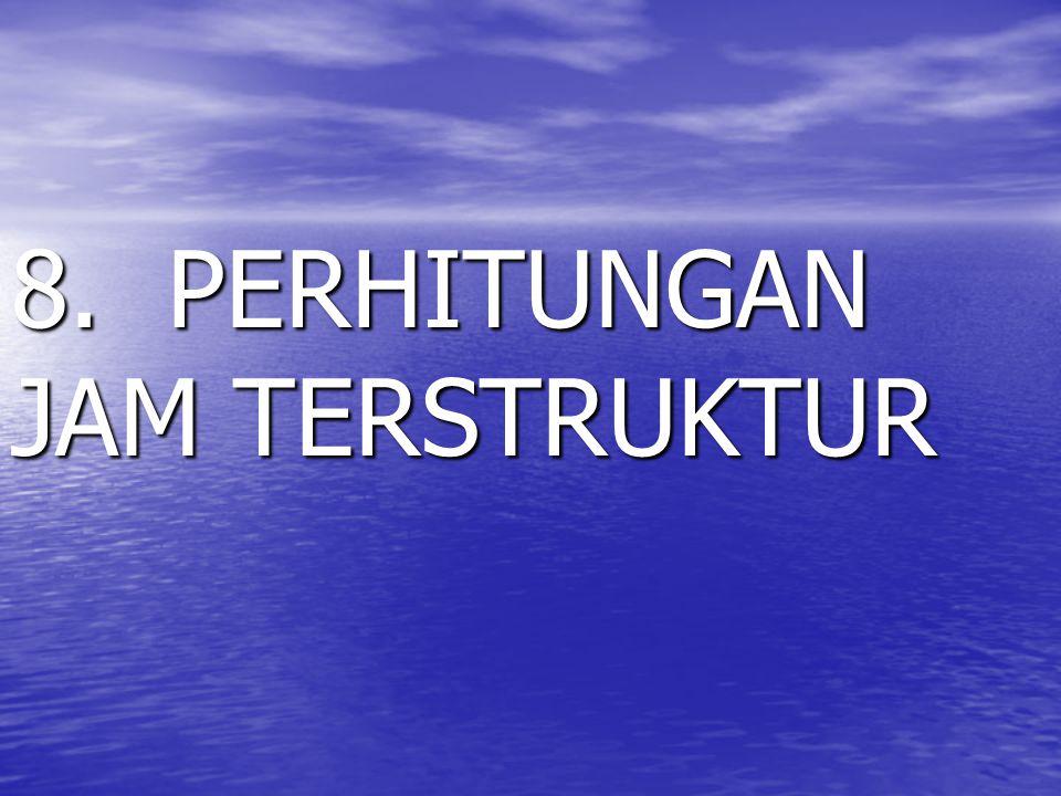 8. PERHITUNGAN JAM TERSTRUKTUR