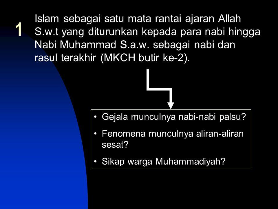 Islam sebagai satu mata rantai ajaran Allah S. w