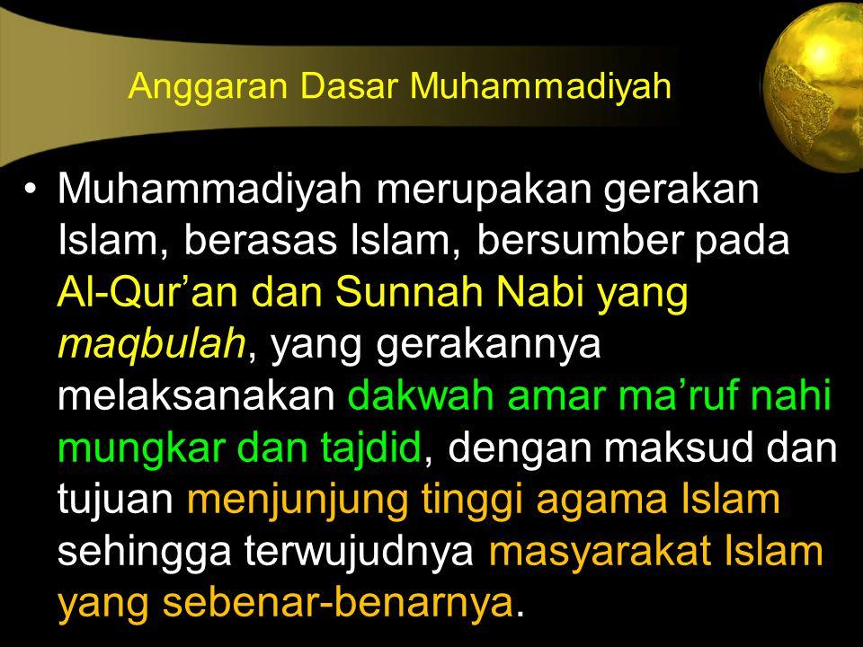 Anggaran Dasar Muhammadiyah