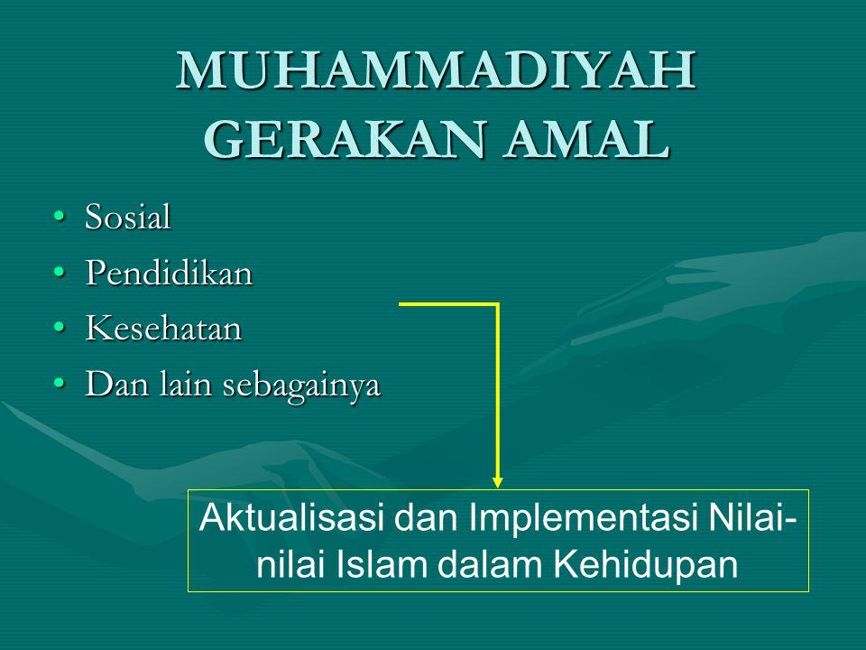 MUHAMMADIYAH GERAKAN AMAL