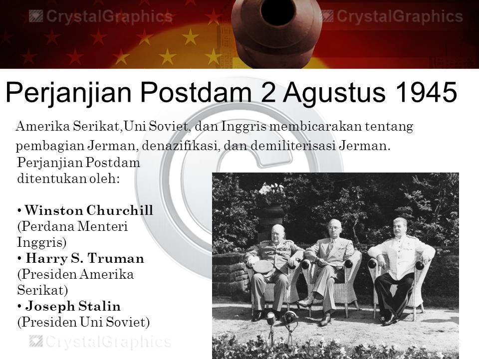 Perjanjian Postdam 2 Agustus 1945