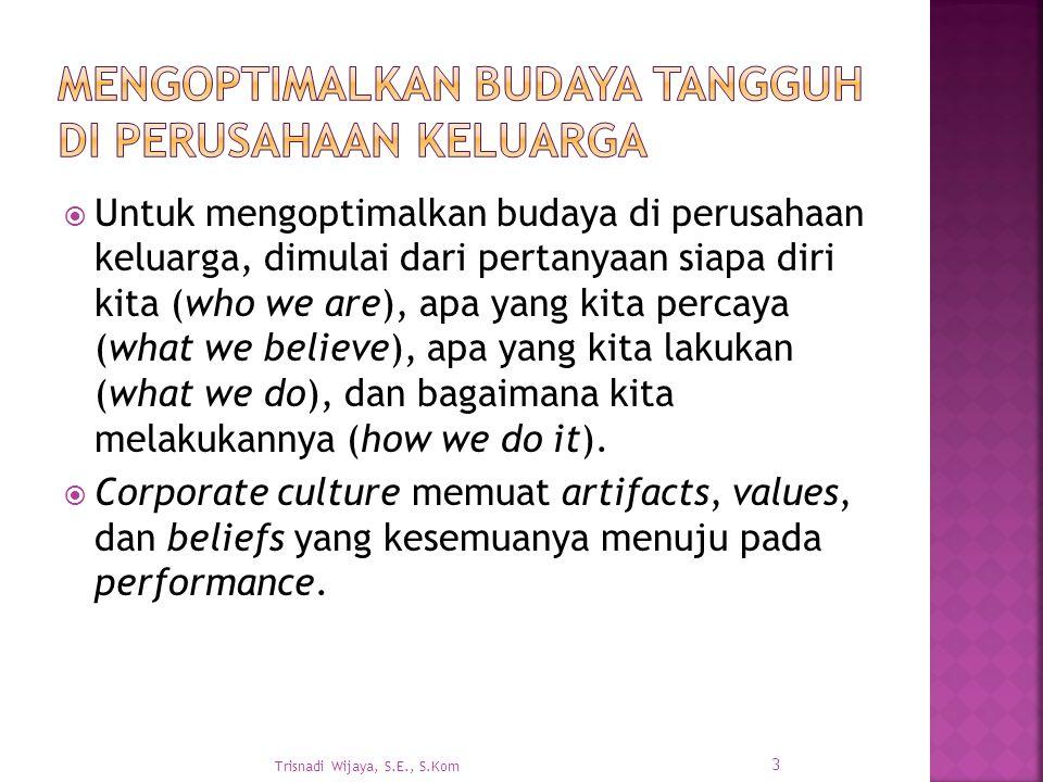 Mengoptimalkan Budaya Tangguh di Perusahaan Keluarga