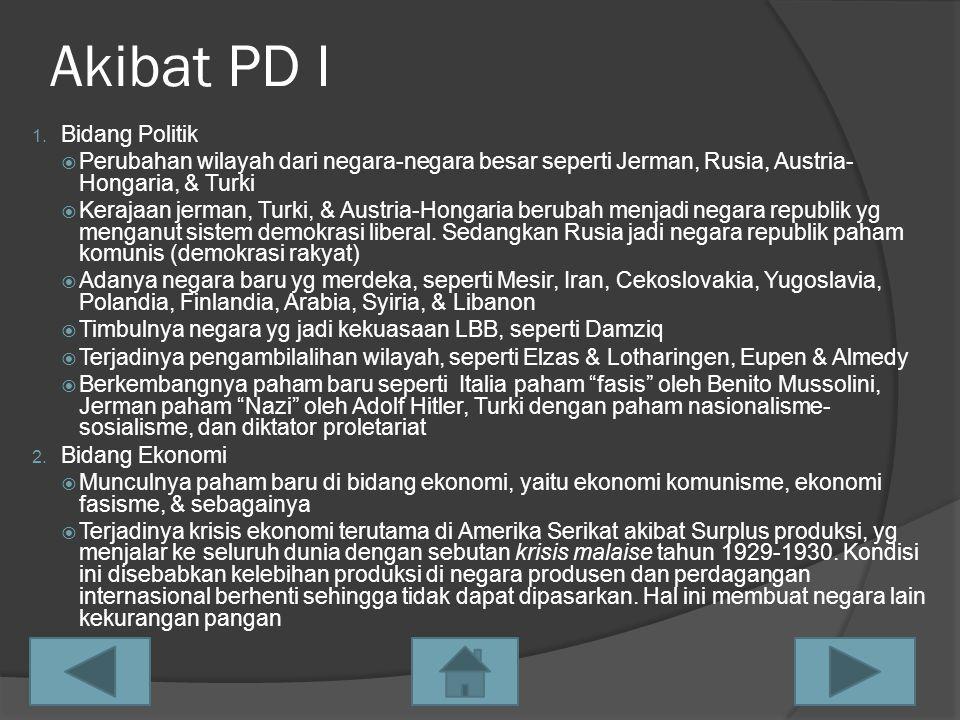 Akibat PD I Bidang Politik