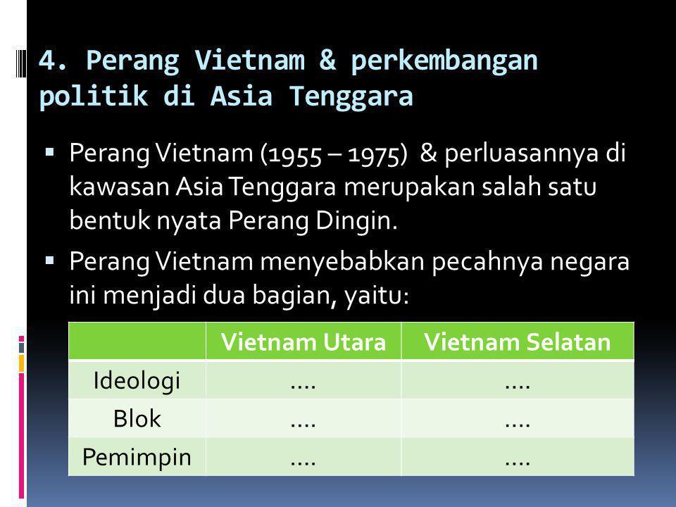 4. Perang Vietnam & perkembangan politik di Asia Tenggara