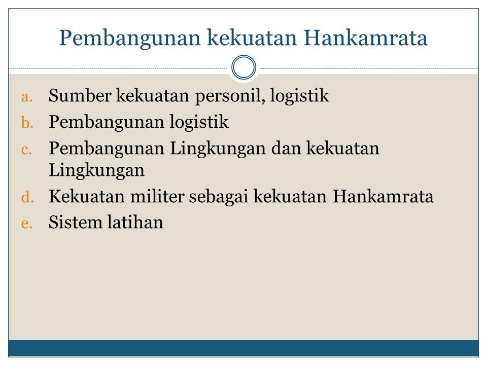 Pembangunan kekuatan Hankamrata