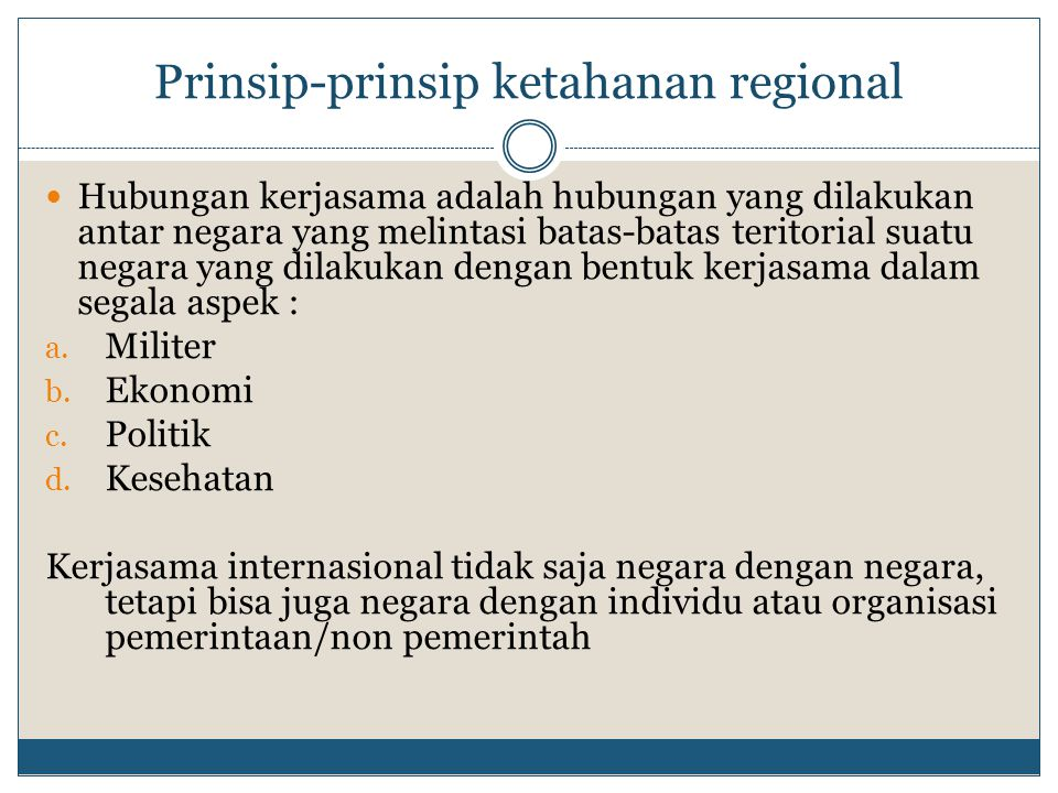 Prinsip-prinsip ketahanan regional