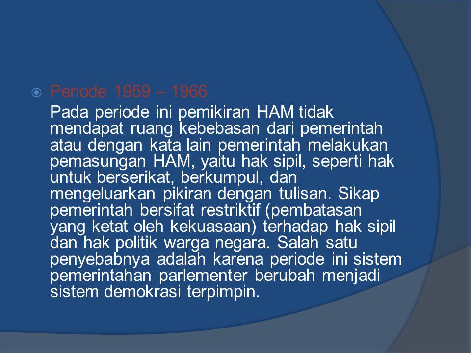 Periode 1959 – 1966