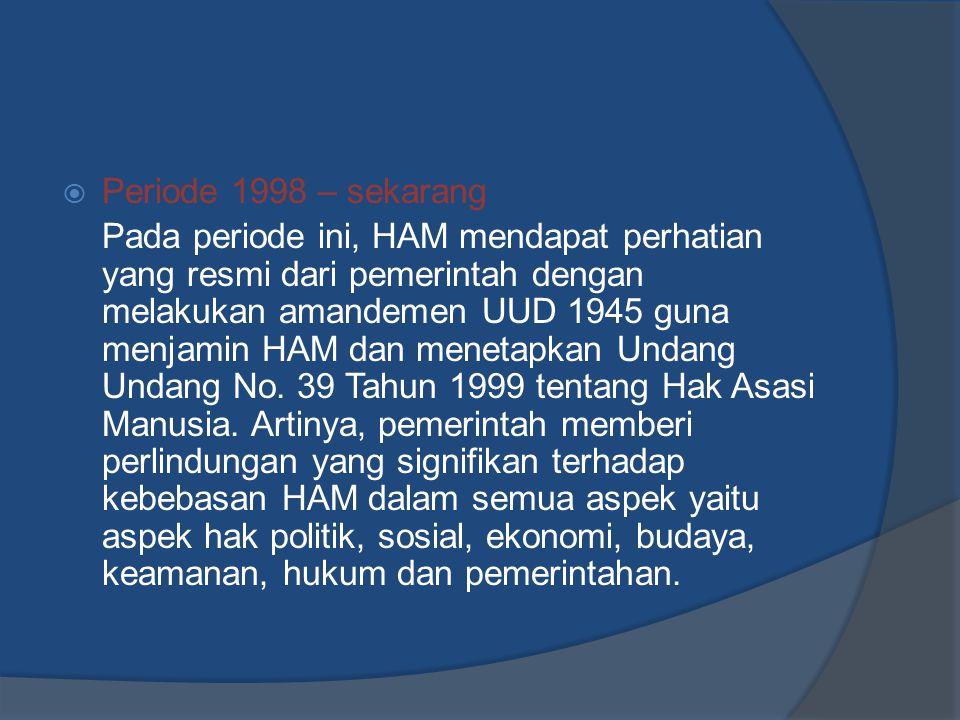 Periode 1998 – sekarang
