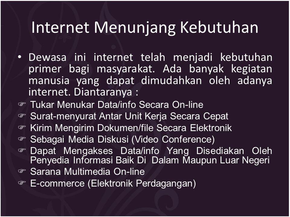 Internet Menunjang Kebutuhan