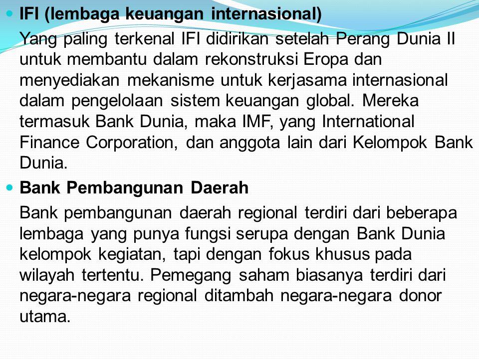 IFI (lembaga keuangan internasional)