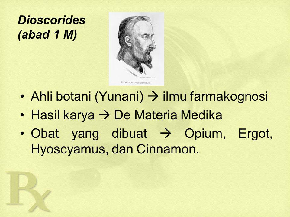 Ahli botani (Yunani)  ilmu farmakognosi