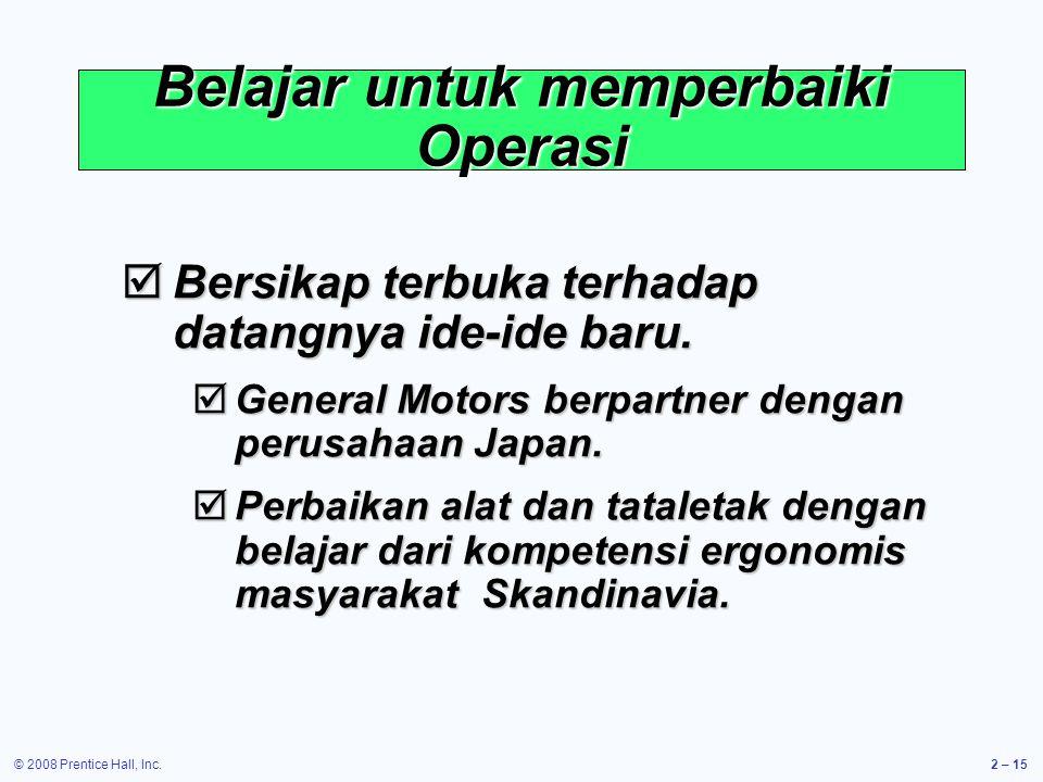Belajar untuk memperbaiki Operasi