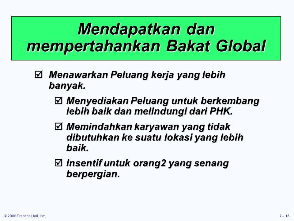 Mendapatkan dan mempertahankan Bakat Global