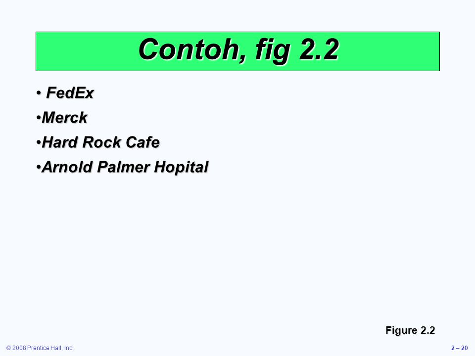 Contoh, fig 2.2 FedEx Merck Hard Rock Cafe Arnold Palmer Hopital